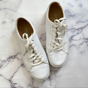 Cole Haan Grand Crosscourt White Leather Sneakers